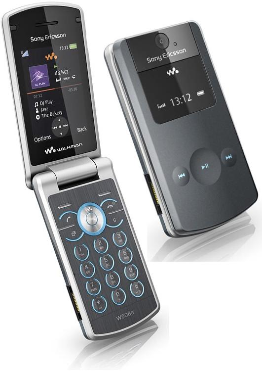 New Sony Ericsson W508 Metal Grey Walkman Flip Fold ...