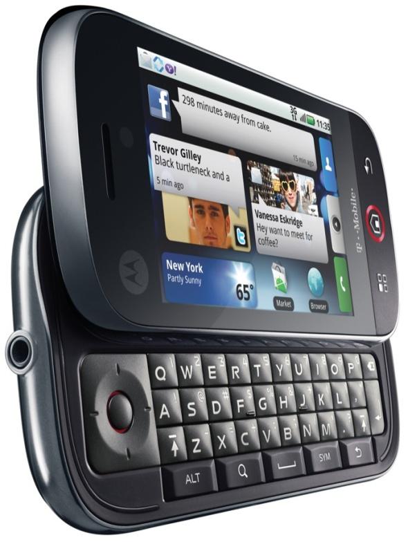motorola cliq. Motorola Cliq Android alapokon