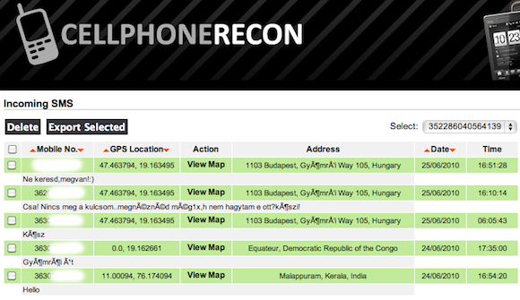 Cell Phone Recon
