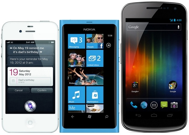 iPhone 4S, Lumia 800, Galaxy Nexus