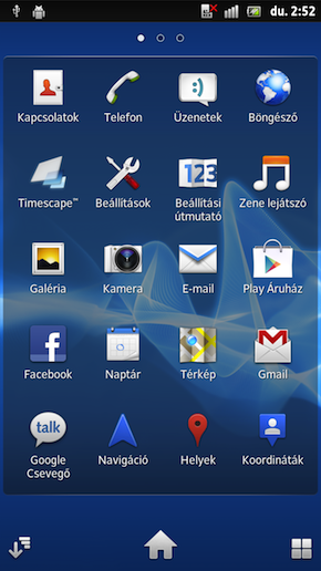 Sony Xperia Ion screen shot