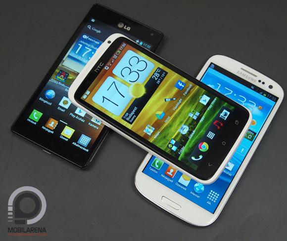 HTC One X, Samsung Galaxy S III, LG Optimus 4X HD