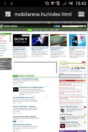 Sony Xperia tipo screen shot