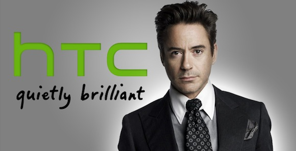 Robert Downey Jr. with HTC