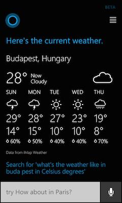 Windows Phone 8.1 Cortana