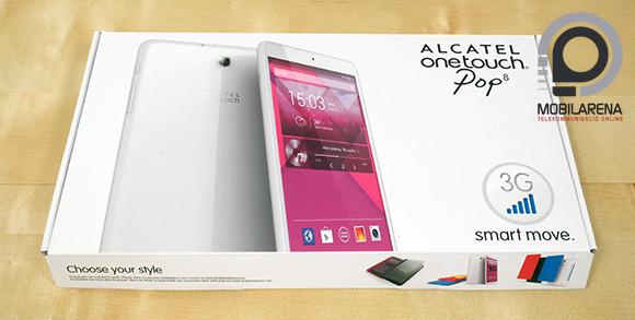 Az Alcatel One Touch Pop 8 széles dobozzal rendelkezik