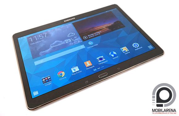 Samsung Galaxy Tab S 10.5 kijelző és kezdőoldal