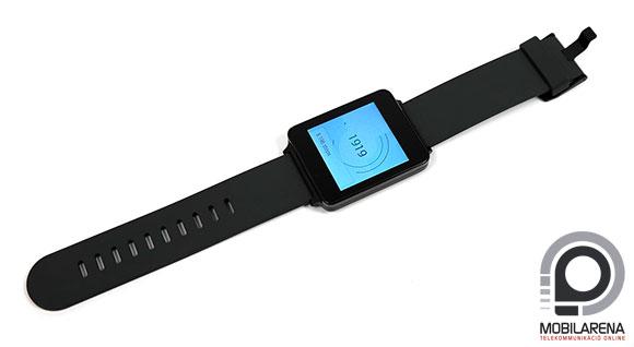 LG G Watch gyári szíjjal