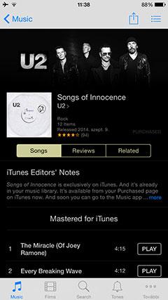 Apple iPhone 6 iTunes Store