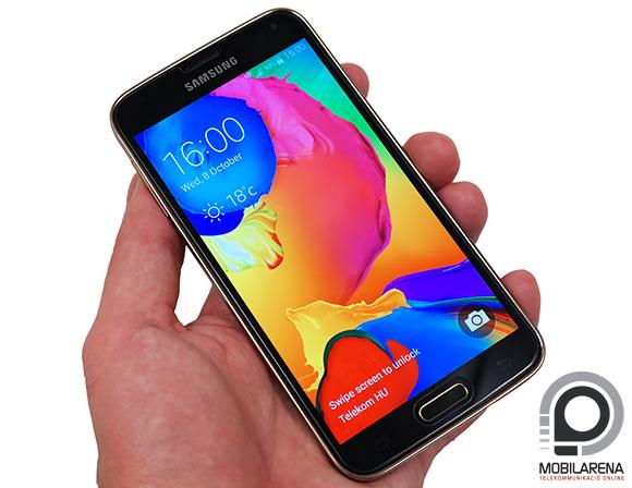 A Samsung Galaxy S5 LTE-A ideális méretekkel rendelkezik