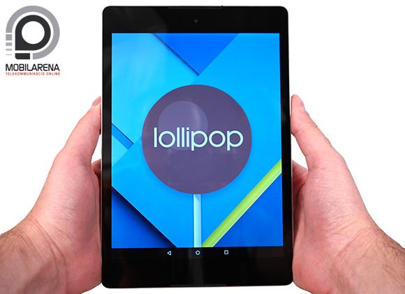 A Google Nexus 9 az Android Lollipop demonstrálására készült