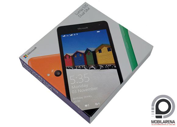 Microsoft Lumia 535 Dual SIM doboz