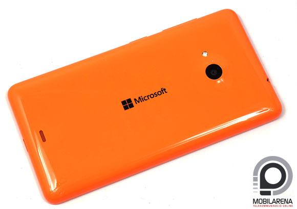 Microsoft Lumia 535 Dual SIM hátulról, hátlap