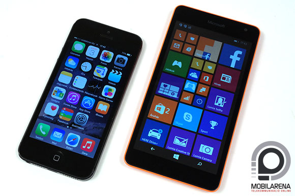 Microsoft Lumia 535 Dual SIM vs. iPhone 5