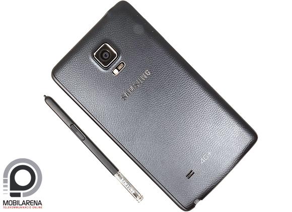 A Samsung Galaxy Note Edge hátulról olyan, mint a Note 4