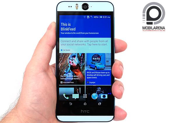 A HTC Desire Eye műanyag házat kapott