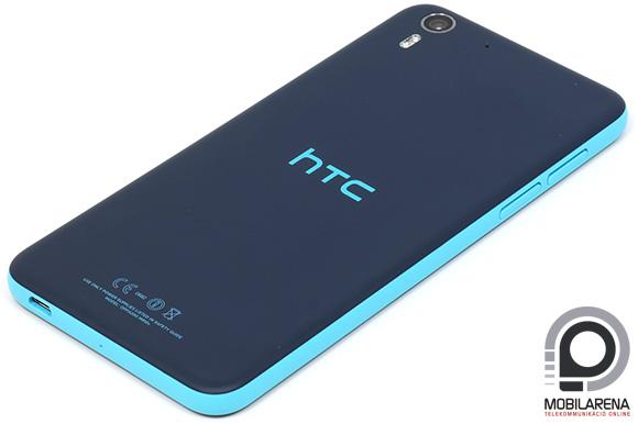 A HTC Desire Eye matt hátlapja csúszós