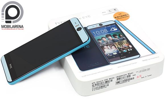 A HTC Desire Eye doboza a headsetet és töltőt rejt