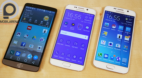 LG G3 vs. Samsung Galaxy S6 edge vs. Samsung Galaxy S6