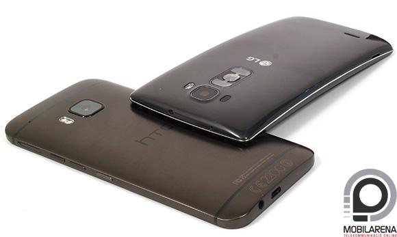 A HTC One M9 az LG G Flex 2 társaságában