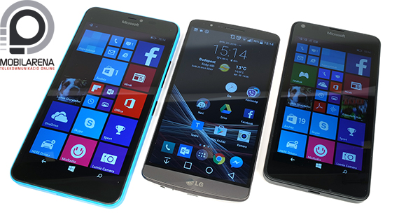 Microsoft Lumia 640 XL vs. LG G3 vs. Microsoft Lumia 640