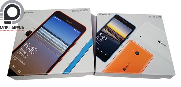Microsoft Lumia 640 és 640 XL dobozok