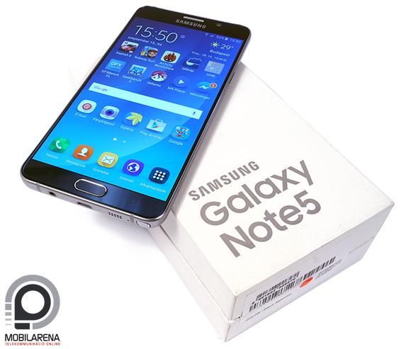 Samsung Galaxy Note5 teszt