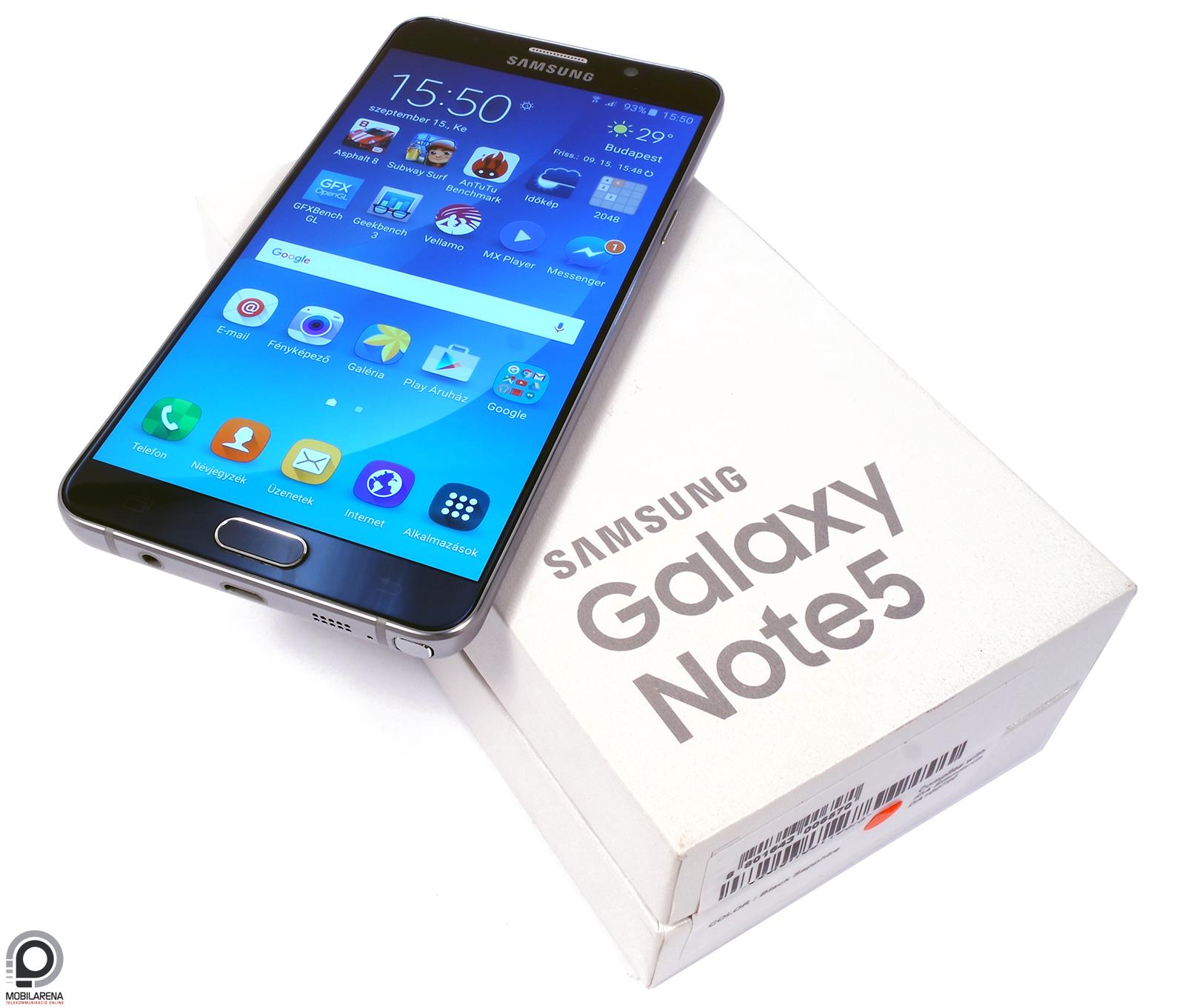 Samsung Galaxy Note5 - ötletes öthetes - Mobilarena Phablet teszt ... 21d9f64319
