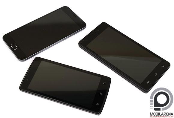 Lenovo A2010 a Doogee X5 Pro és a Meizu m2 társaságában.