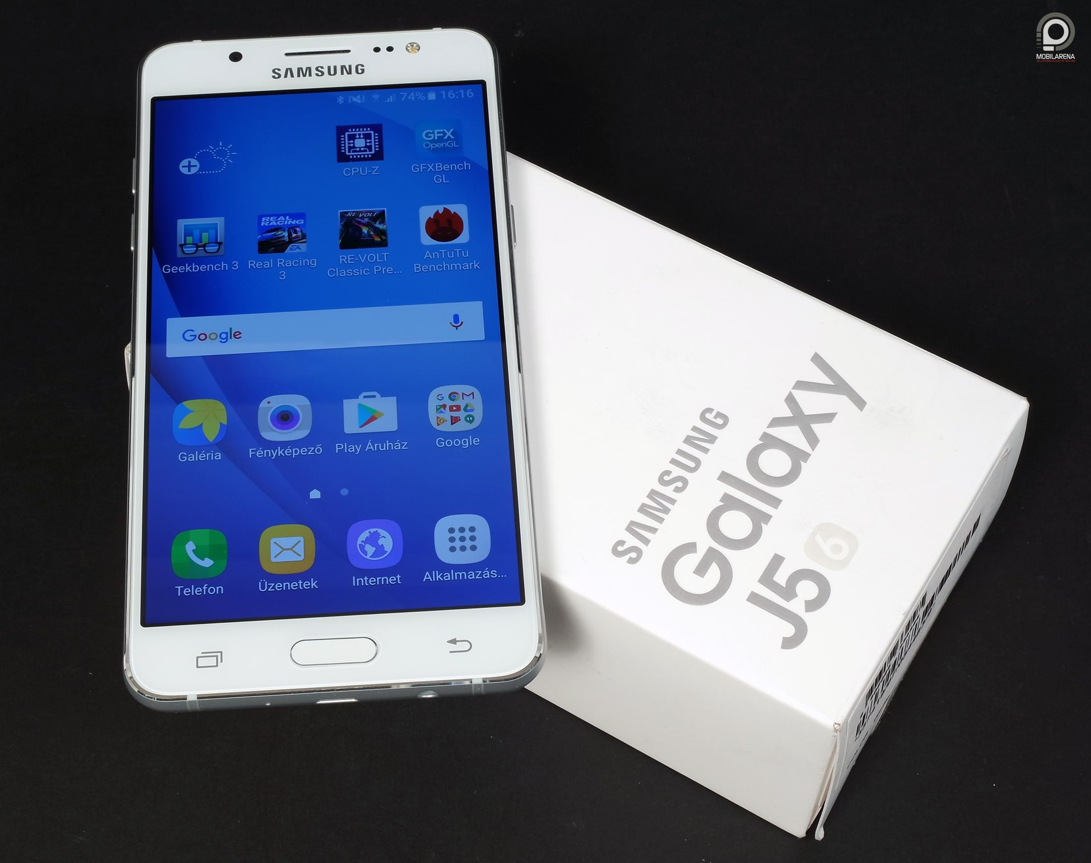 Samsung Galaxy J5 2016 J Ez Ell Is Villan Mobilarena Smj500 8gb A Mobilon Kvl Tltfej Usb Kbel S Headset Kerlt Kartondobozba