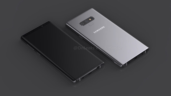 A Galaxy Note9 renderképei