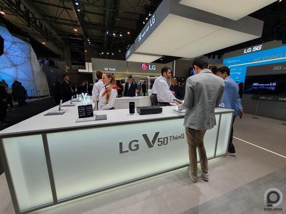 Az LG standja a legutóbbi MWC-n