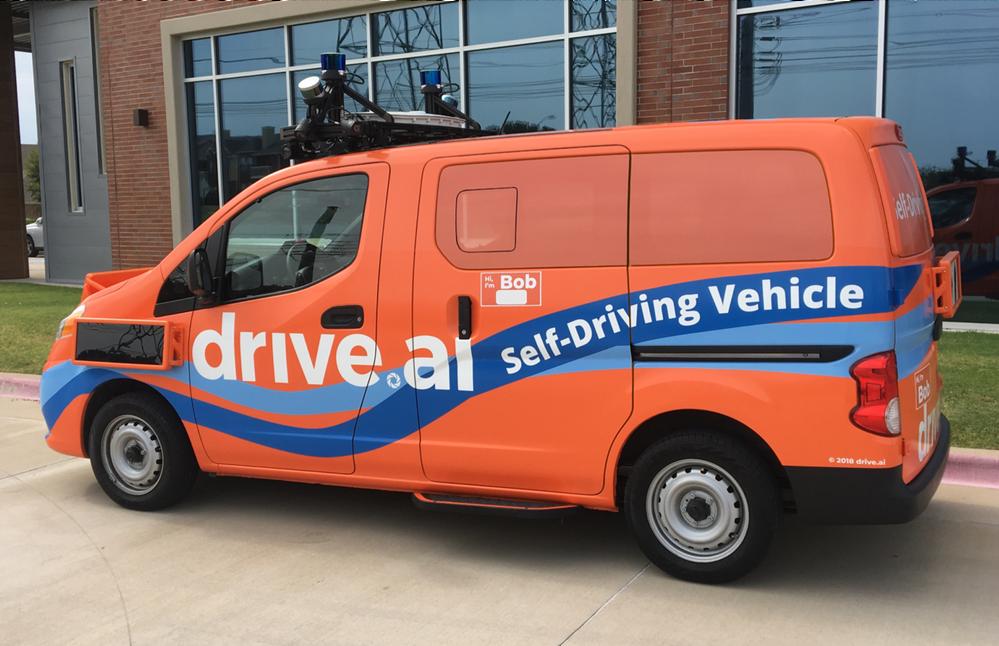 A Drive.ai önvezető szállítójárműve 2019-ből