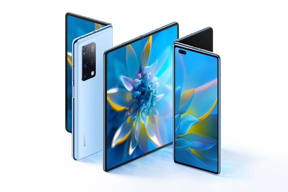 A Huawei Mate X2 dual-core