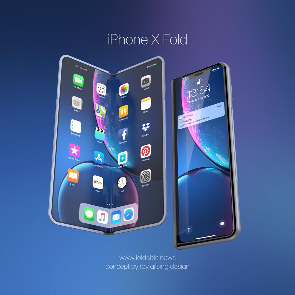 Hajlítható iPhone koncepciókép