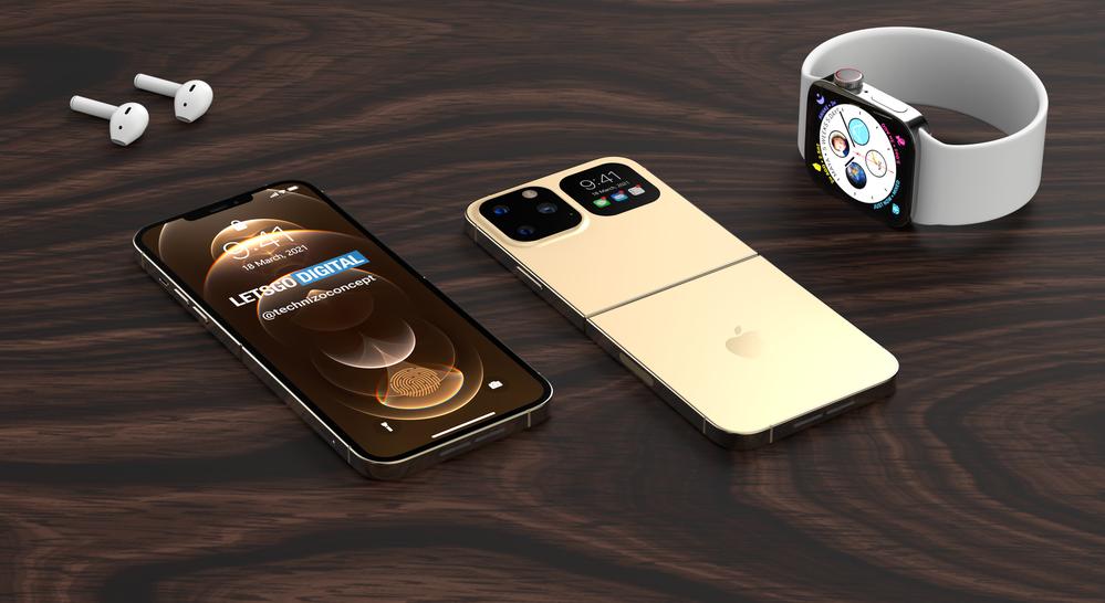 A flipes iPhone koncepciója. A galéria megnyitásához kattints a képre!