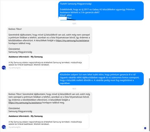 417a2fdc8f3a Ebből kifolyólag mondom írok a Samsung képviseletnek facebookon és  megérdeklődöm őket, hogy a 2017-es A5-re is ugyan úgy él-e a Prémium  Assistance garancia, ...