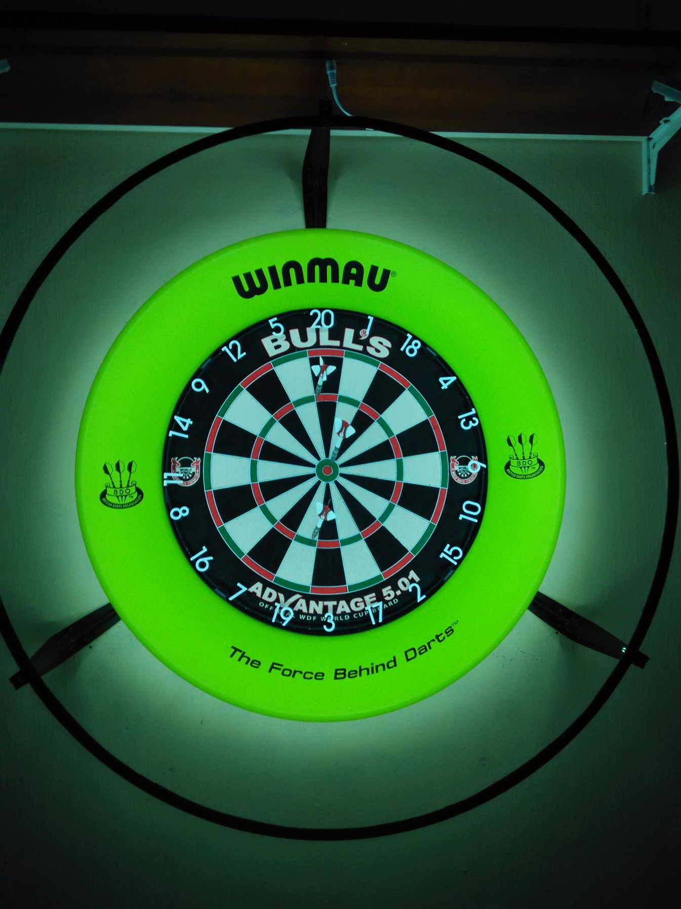 Ph darts mobilarena hozz sz l sok for Diy dartboard lighting